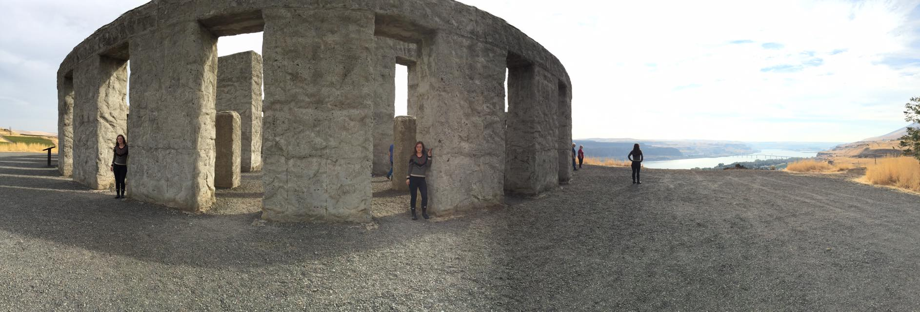 Jenn Zahrt, PhD at Stonehenge WA