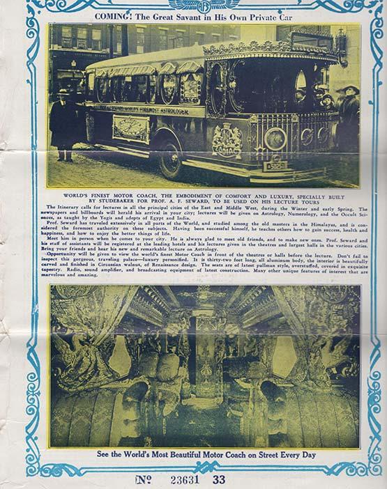 A. F. Seward's car