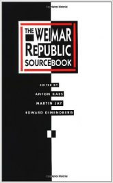 Weimar Republic Sourcebook